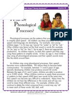 what are phonological processes