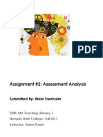 A-3. Provide Evidence You Know How to Analyze Assessment Data.