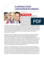 South African Assistance is Best Alternative to International Investigation