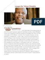 Condolence Messages for Nelson Mandela