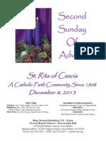 St. Rita Parish Bulletin 12/8/2013