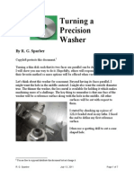 Turning a Precision Washer