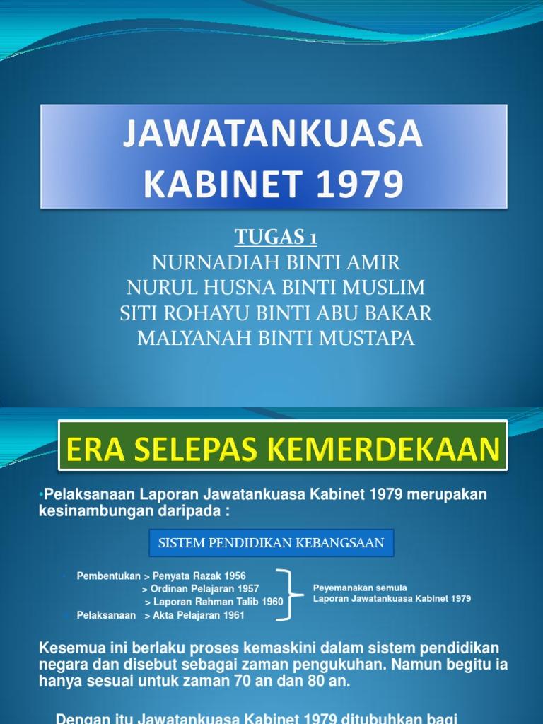 Laporan Jawatankuasa Kabinet 1979