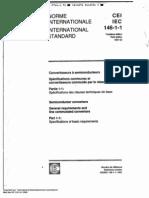 Normas IEC 146-1-1 I