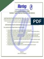 POLÍTICA DA GESTÃO DE QUALIDADE MANTEP PARA IMPRESSAO