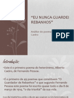 Alberto Caeiro - Eu nunca guardei rebanhos- Análise