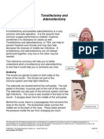 Tonsillectomy and Adiniodectomy