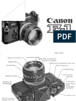 Canon F-1 Manual