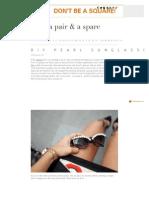DIY Pearl Sunglasses