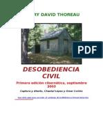 Thoreau Henry David - Desobediencia Civil