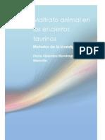 Maltrato Animal en Los Encierros Taurinos