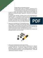 Aplicación de la metrología científica en el desarmador de matraca