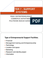 cHapter 7 Entrepreneurial Sources of Capital and Support Systems