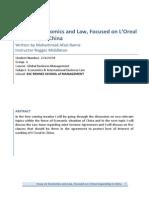 Essay on Economics and Law