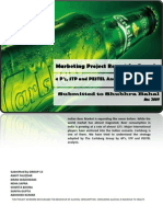 4Ps, STP and PESTEL analysis of Carlsberg India