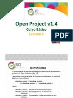 OpenProject1.4 CBv1.0 - UCI Leccioìn 2 Tema3 Vinculacioìn de Tareas