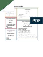 Physics Equation Guide