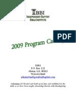 Independent Baptist Bible Institute 2009 Program Catalog