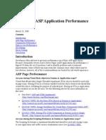 Improving ASP Application Performance