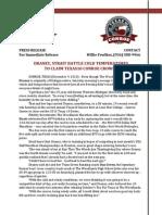 2013 Texas10 Conroe Post-Race Press Release
