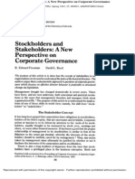FREEMAN - Stockholders and Stakeholders- A New Perspective on Corporate Governance - 1983