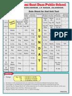 Date Sheet:SSDPS UT 2