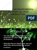 Role of Enviromental Factors on Crop Production