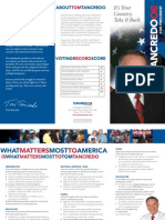 Tom Tancredo for President Brochure