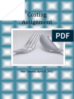 Costing Title Page