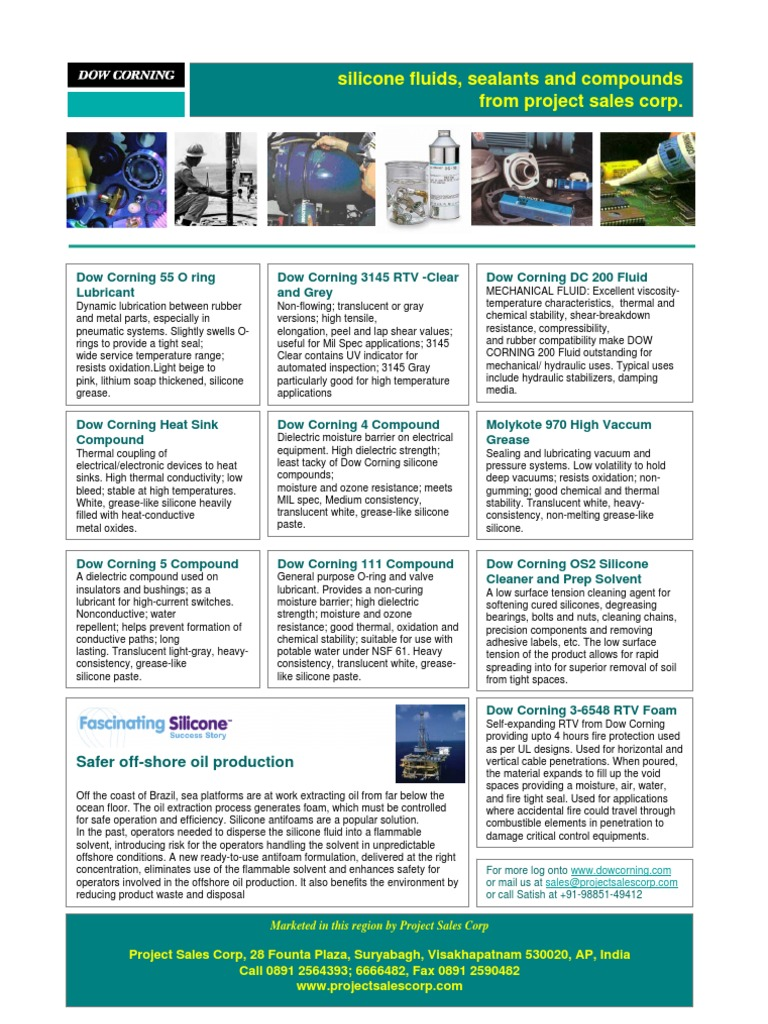 Dow Corning Silicone Compounds | Silicone | Lubricant