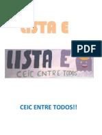 Programa Lista E 2013