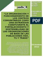 Informe final consultoría sistematización centros comunitarios