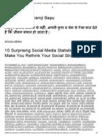 10 Surprising Social Media Statistics That Might Make You Rethink Your Social Strategy _ Sant Shri Asharamji Bapu