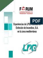 Experiencia Tecnicas de Extincion LPG