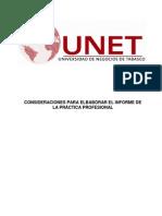 Consideraciones Para Elaborar Informe de Practica Profesional