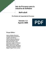 MoProSoft Por Niveles de Capacidad de Procesos V1.3