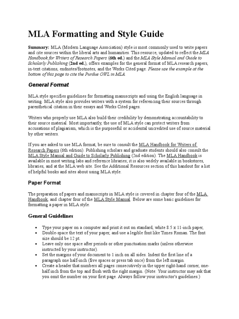 mla formatting and style guide note typography citation