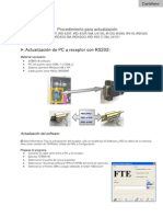 Actualización de PC a receptor con RS232