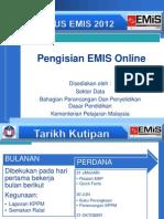 Pengisian EMIS Online 2012-Modul Sekolah