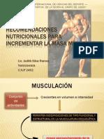 Recomendaciones Nutricionales Para Incrementar La Masa Muscular-Lic.silva (1)