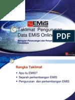 Pengurusan EMIS Online 2012-GDM