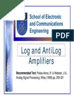 6 Log Anti Log Amplifiers