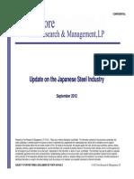 Japan Steel Industry Update - September 17 2012