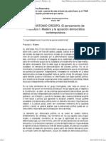 1 JOSE ANTONIO CRESPO. El pensamiento de Francisco I. Madero y la oposición democrática contemporánea