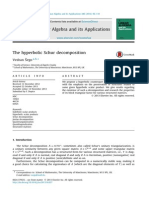 Hyperbolic Schur Decomposition