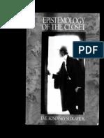 Epistemology of Closet by Sedgwick