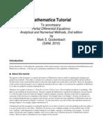 Mathematica Partial Differential Equations