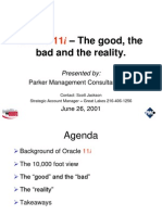 Oracle 11 i Presentation