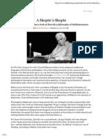 Kaufman M (2010) 'a Skeptics' Skeptic' Derrida Biography Review(TabletJan20)