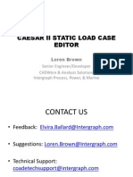 Caesar static Load Case Editor